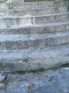stone staircase bahamas painting contemporary abstraction