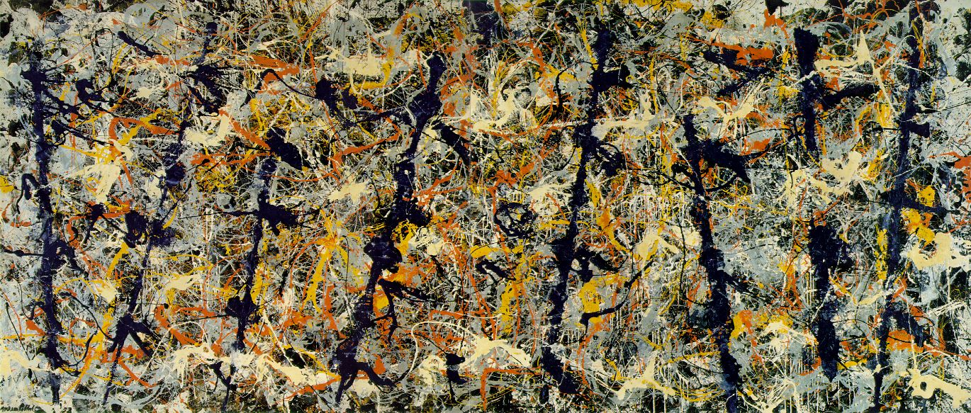 More properly known as Blue Poles: Number 11, 1952, this painting is considered Pollock's most important work. Source