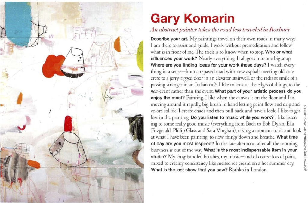 Gary Komarin An Abstract Painter Takes The Less Traveled in Roxbury | Connecticut Cottages & Gardens