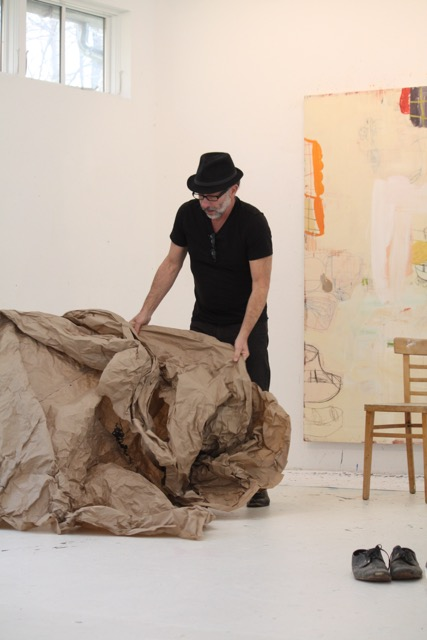 Artist Gary Komarin in his Connecticut Studio