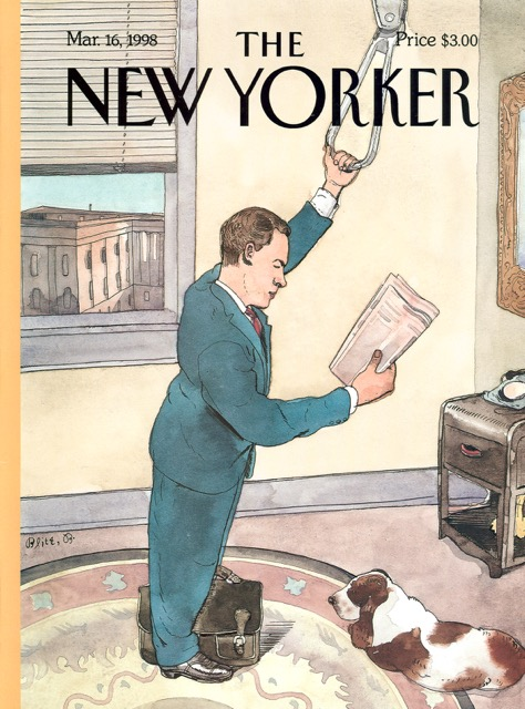 Barry Blitt New Yorker Cover Art March 1998