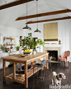Susanna Salk's kitchen from House Beautiful