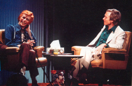 Dick Cavett and David Bowie