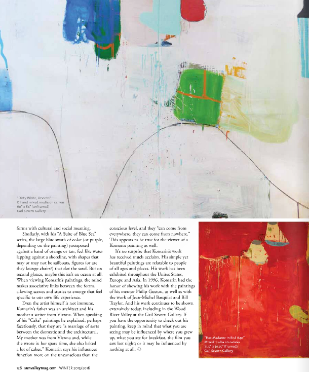 Unraveling the signified from the signifier the art of gary komarin by Danielle Flam Sun Valley Magazine Winter 2016