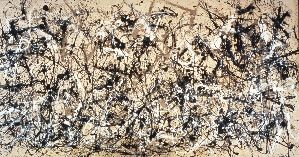 jackson pollock abstract painting Autumn Rhythms 1950