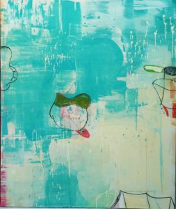 Mrs. Blue and You, 72 x 60""